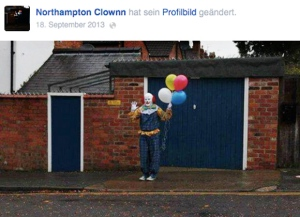 Facebook-Eintrag des Northampton Clown