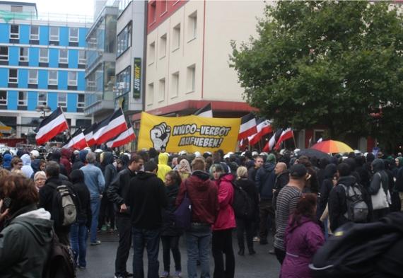 Nazidemo in Dortmund, Foto: Ulrike Märkel