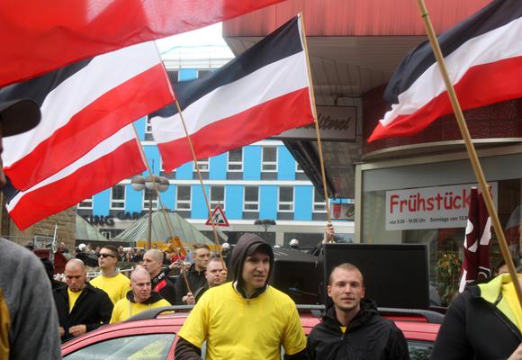 Nazi Demonstration in Dortmund 2015, Lukas Bals; Foto: Ulrike Märkel