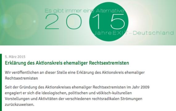 Erklärung von Exit-Aussteigern, Screenshot 2015