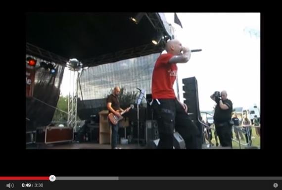 Oidoxie-Konzert mit Sänger Gottschalk, Screenshot Youtube 2013