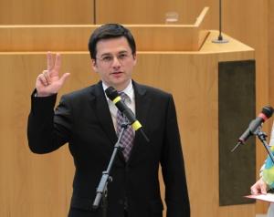 Justizminster Thomas Kutschatys Vereidigung 2012, Foto: Schälte, Bernd (alle Rechte beim Landtag NRW)