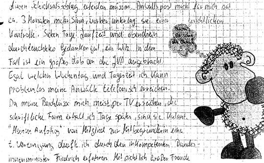 Brief von Beate Zschäpe an den Dortmunder Nazi Robin S.