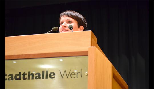 Frauke Petry auf dem AfD Parteitag in NRW, Foto: Ulrike Märkel